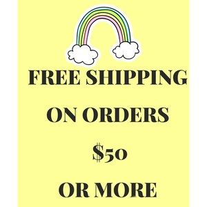Free Shipping on orders $50.00 or more